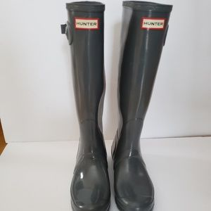 Womens size 9 Grey Tall Hunter Boots
